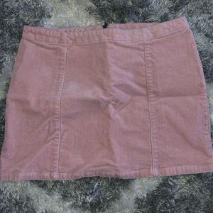 Pink mini skirt size small